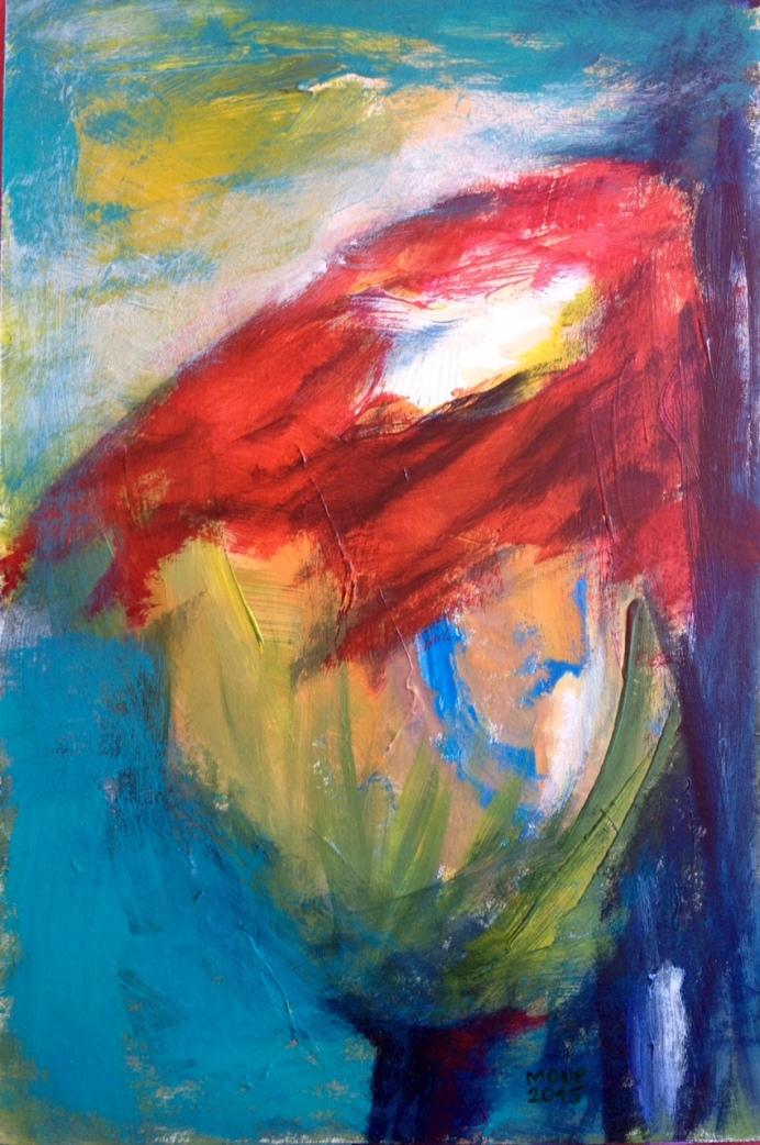 Tulpe, Acryl auf Papier, 45x35