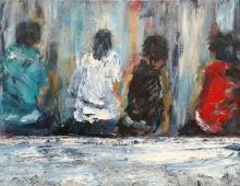 Leute gucken, Acryl auf Leinwand, 40x50